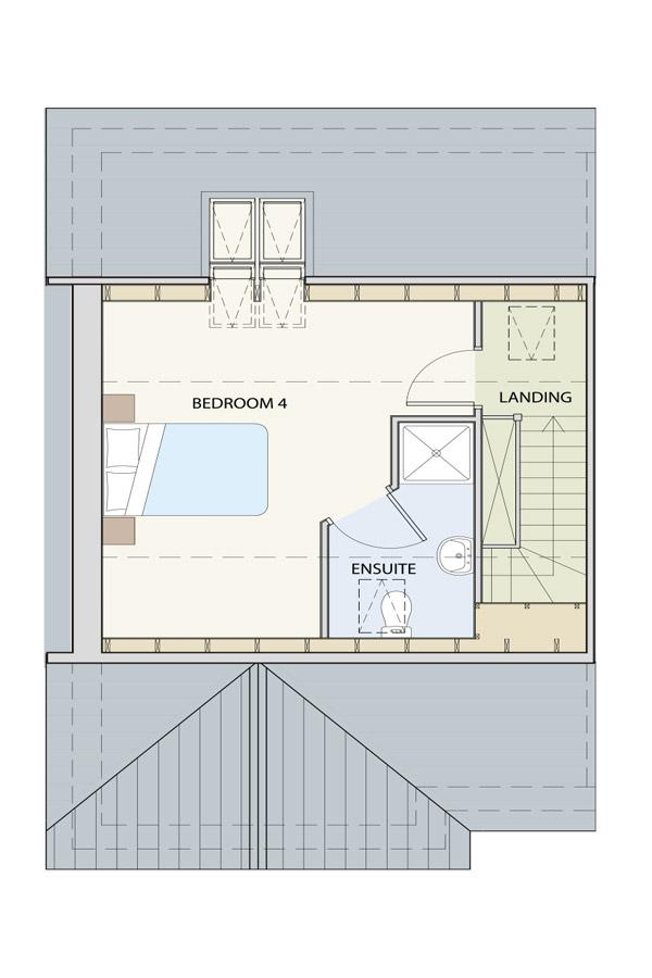 The Heaney 2nd Floor Floor Plan The Heaney Bedroom 4
