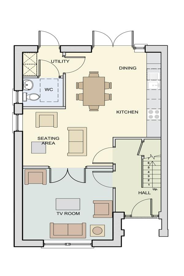 The Heaney Ground Floor Floor Plan