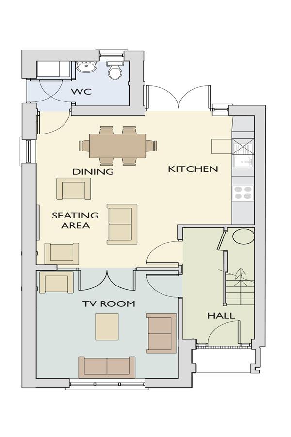 Type-E- ground floor The Beckett Ground Floor Plan