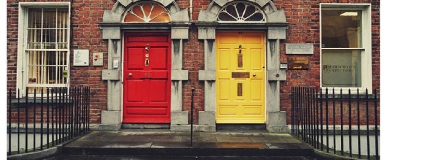 Red & Yellow Doors in Dublin